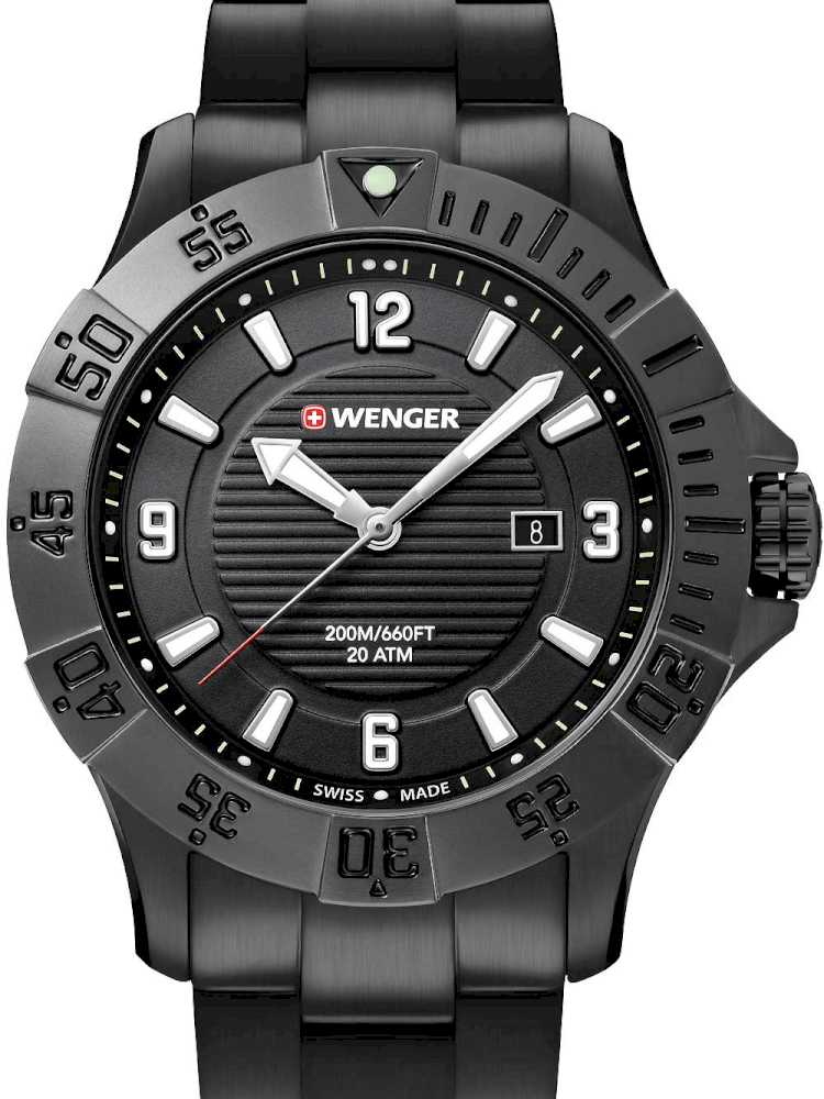 Wenger 01.0641.135 Herreur Seaforce Sort Ur