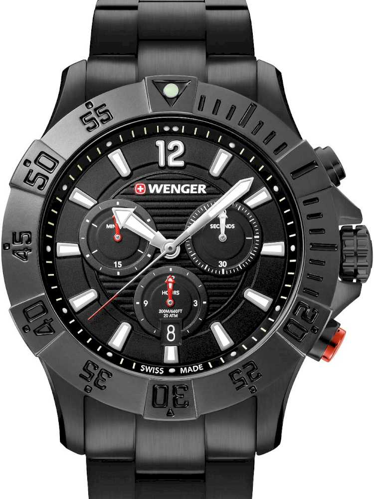Wenger 01.0643.121 Herreur Seaforce Sort Ur